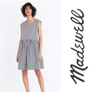Madewell Tie Back Gingham Dress